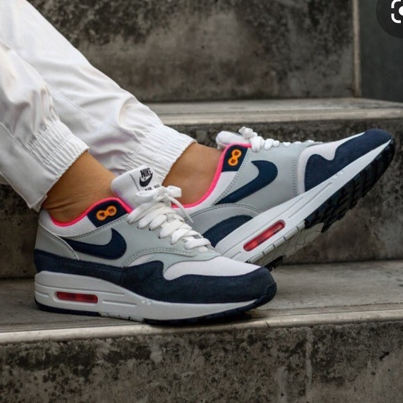 Nike Air Max 1 White Midnight Navy W AUTHENTIC NWT